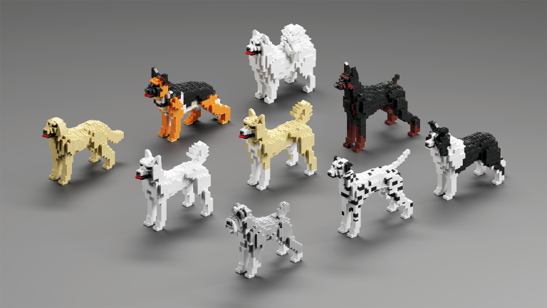 A Pack of Dogs, by K. Amida