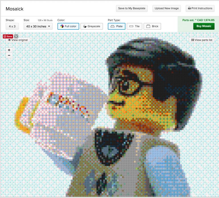 BrickLink Mosaick Maker – Now in Beta