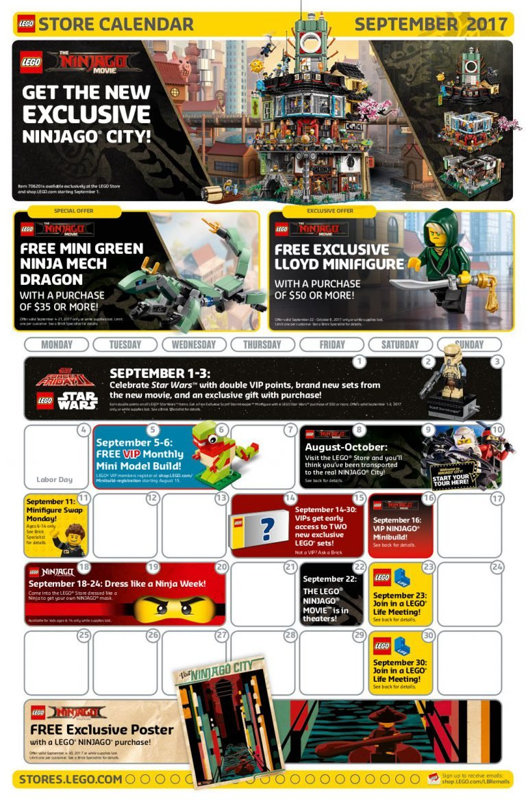 September Will Be A Month of NINJAGO