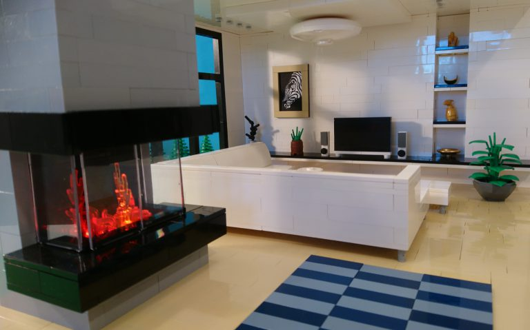Hyper Real Living Spaces in LEGO