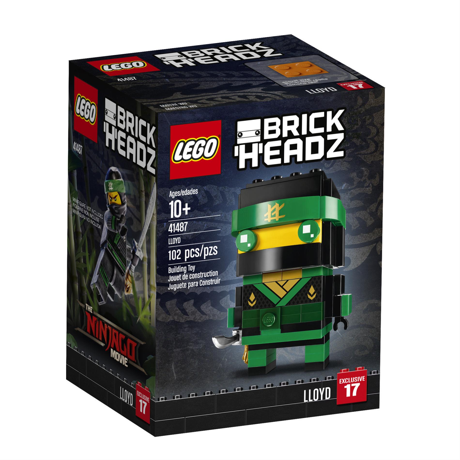 2 Lego Ninjago Movie Brickheadz Exclusive At Toys R Us Brick Brains