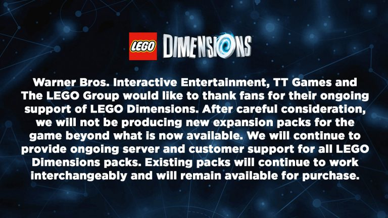 LEGO Dimensions officially coming to an end