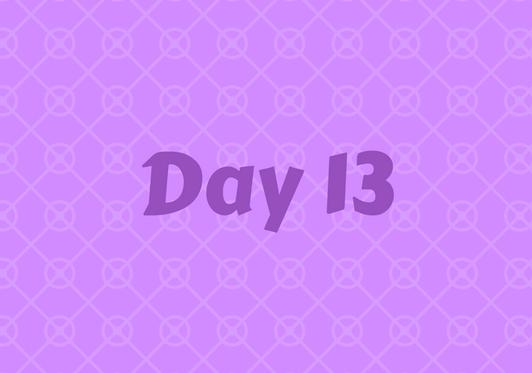 2017 Friends Advent Calendar – Day 13